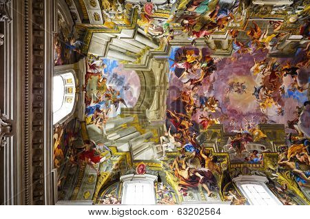 Rome, Italy - April 20: The Church Of St. Ignatius Of Loyola At Campus Martius