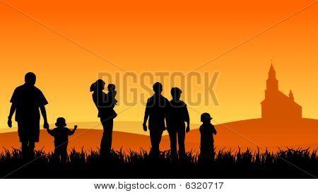 jonge mensen met kinderen