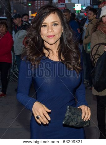 NEW YORK-APR 9: Actress Rosie Perez attends the Lionsgate & Roadside Attractions with The Cinema Society premiere of 'Joe' at Landmark's Sunshine Cinema on April 9, 2014 in New York City.