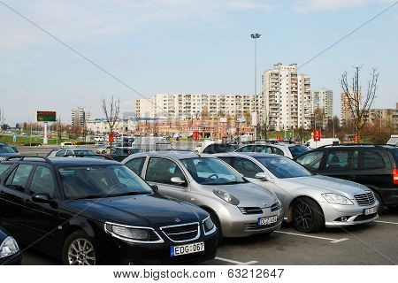 Vilnius City View On April 12, 2014, Vilnius, Lithuania.
