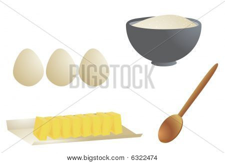 Cooking Ingredients Isolated