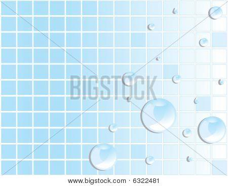 Blue Tile Water Droplet Background 2