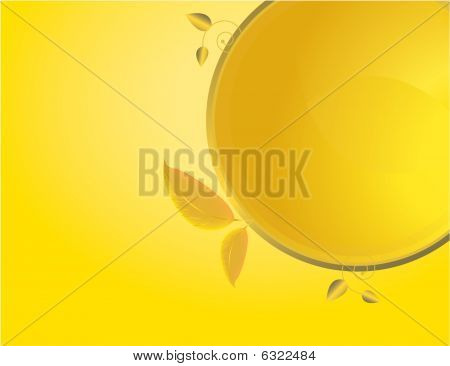 Yellow Gold Abstract Leaf Background 2