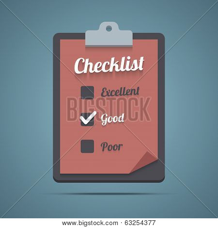 Clipboard with checklist.