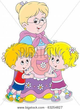 Granny and her grandchildren