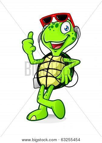 Turtle with Earphone