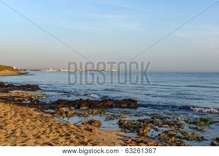 Beach Of Torre Canne At Dawn (italy)