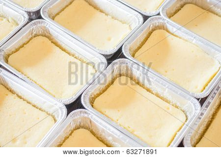 Group Of Square Box Cheese Cake
