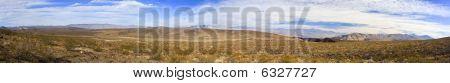 Panoramic Of Nevada Desert