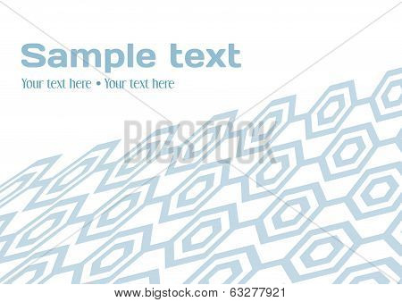Gray Hexagon Pattern On The White Background