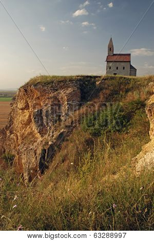 Church Of St. Michael Stands On A High Rock