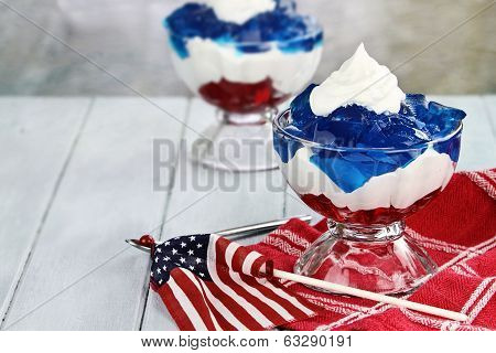 Gelatin Dessert For Fourth Of July