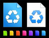Recycle Icons on Colorful Paper Document Collection poster