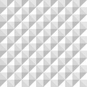 Minimalistic white geometrical mosaic pattern for subtle design poster