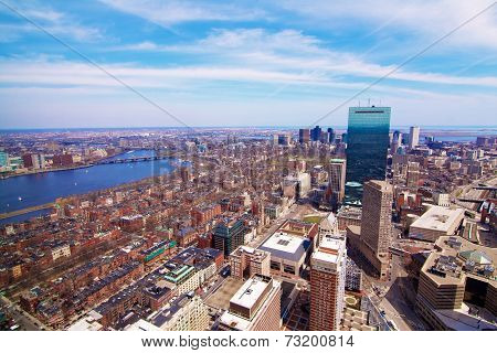 Downtown Boston With The Charles River