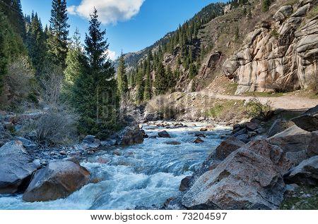 River In Grigorevsky Gorge