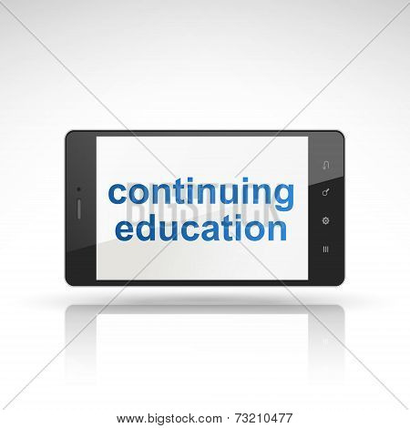 Continuing Education Words On Mobile Phone