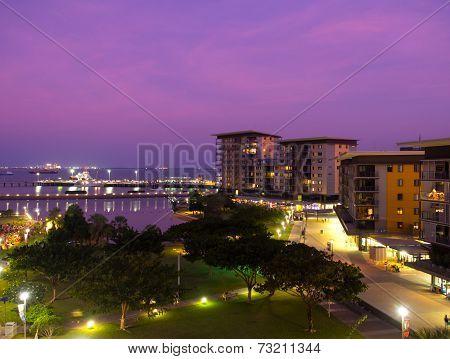 Darwin Waterfront At Sunset, Australia