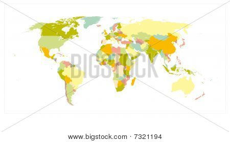 World Map Detailed - Vector