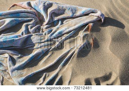 Sand Covered Beach Towel