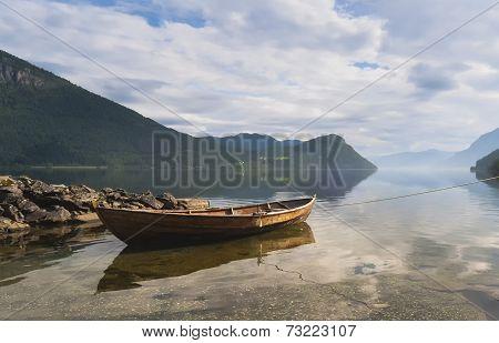 Boat in Fjord