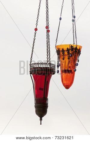 Traditional Vintage Turkish Lamps In Cappadocia