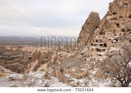Uçhisar Castle, Cappadocia, Turkey.