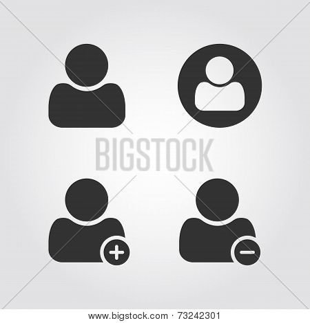 User man icons set, flat design