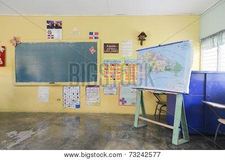 Rural School In The Dominican Republic