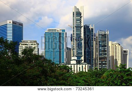 View of the Kuala Lumpur City Centre. Day. poster