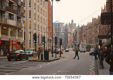 Brompton Road in Knightsbridge