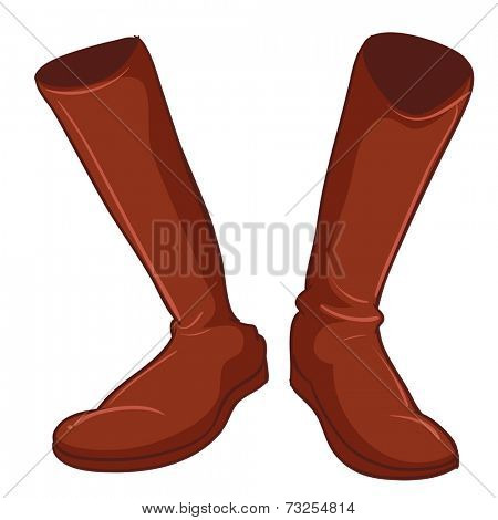 Illustration of a pair of brown shoes on a white background