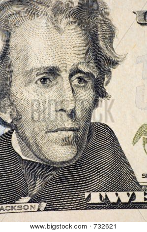 Jackson on a $20 bill