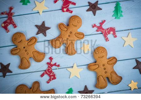 Christmas Cookie And Decoration Background