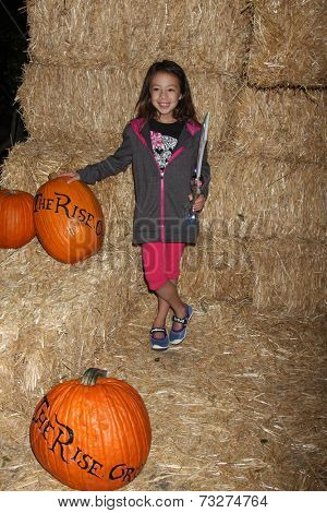 LOS ANGELES - OCT 4:  Aubrey Anderson-Emmons at the RISE of the Jack O'Lanterns at Descanso Gardens on October 4, 2014 in La Canada Flintridge, CA