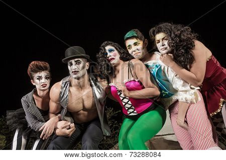 Crying Cirque Clowns