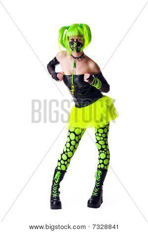 Funny Cyber Goth Girl