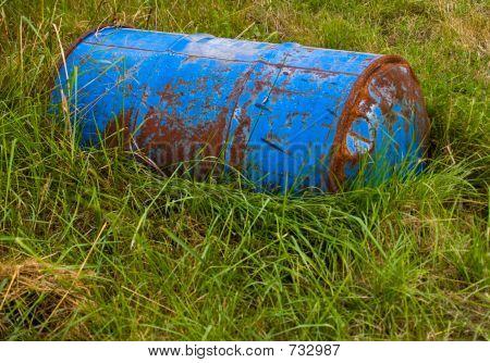 Barrel In Grass