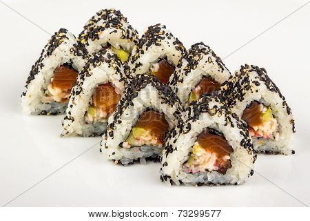 Triangular Sushi With Sesame Seeds