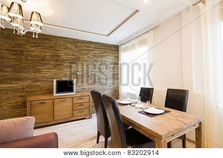 Modern interior of a living room studio