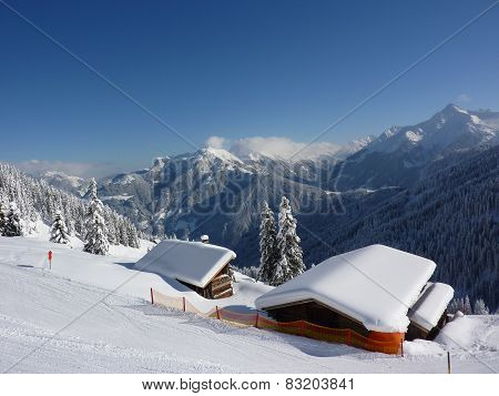 Ski hut in the Tyrolean ski resort