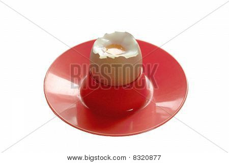 Boiled Egg Showing White and Yoke