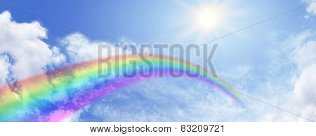 Rainbow Sky Website Banner