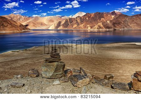 Rocks, Stones, Mountains,pangong Tso (lake),leh,ladakh,jammu And Kashmir,india