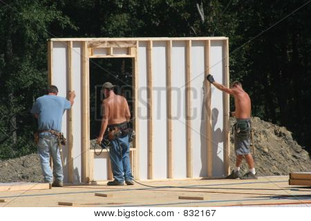 Constructing Wall of Home