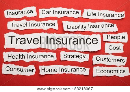 Travel Insurance Text On Piece Of Torn Paper