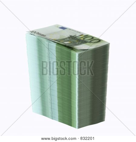 big stack of onehundred euro