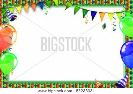 Celebration background with carnival balloons