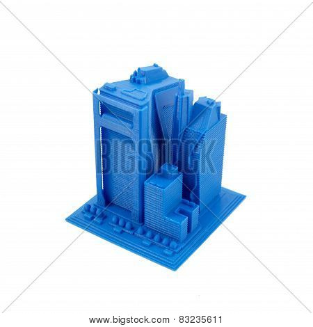 3D Printed Model Of Skyscrapers