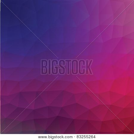 Blue and pink luminosity geometric low poly style vector illustration graphic background.